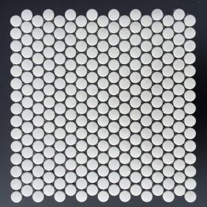 3/4 INCH PENNY ROUND GLOSSY WHITE (CZG206D)