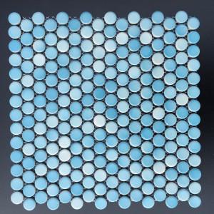 3/4 INCH PENNY ROUND GRADIENT BLUE GLOSSY (CZG007A