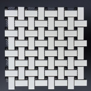 BASKETWEAVE WHITE W: BLACK DOT GLOSSY (CZM006D)_1548